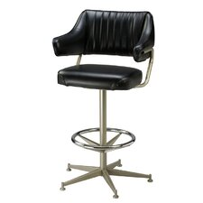 "Retro 26"" Swivel Bar Stool with Cushion"