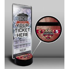 Florida State Seminoles 2013 Football National Champions Ticket Display Stand