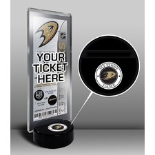 My First Game Hockey Puck Ticket Stand