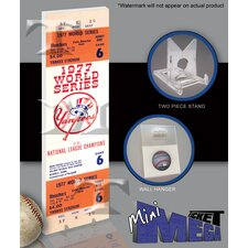 MLB 1977 World Series Mini Mega Ticket - New York Yankees