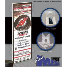 NHL Martin Brodeur Record Breaker 552 Wins Mini Mega Ticket - New Jersey Devils