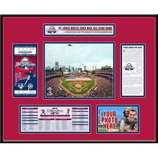 MLB 2009 All-Star Game Ticket Frame - St. Louis Cardinals