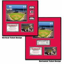 MLB Great American Ball Park Ballpark Ticket Frame - Cincinnati Reds