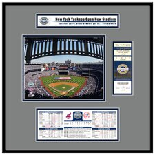 MLB Stadium Inaugural Game 2009 Opening Day Ticket Frame Jr. - New Yankees
