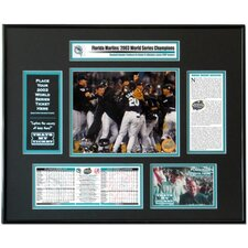 MLB 2003 World Series Ticket Frame - Team Celebration - Florida Marlins