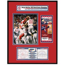 MLB 2007 World Series Ticket Frame Jr.Team Celebration - Boston Red Sox