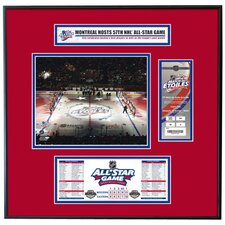 NHL 2009 All-Star Game Ticket Frame Jr. - Opening Ceremony - Montreal Canadiens