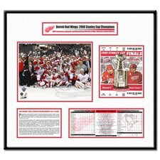 NHL 2008 Stanley Cup Ticket Frame Team Celebration - Detroit Red Wings