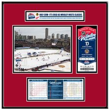 NHL Winter Classic Ticket Frame Jr. - Wrigley Field - Chicago Blackhawks