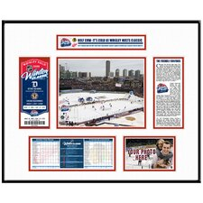 NHL Winter Classic Ticket Frame - Wrigley Field - Detroit Red Wings