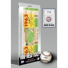 1963 MLB World Series Los Angeles Dodgers and New York Yankees Mini Mega Ticket