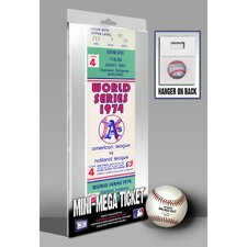 1974 MLB World Series Oakland Athletics and Los Angeles Dodgers Mini Mega Ticket