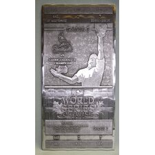 <strong>That's My Ticket</strong> 2011 World Series Commemorative Hand Forged Metal Ticket - St Louis Cardinals