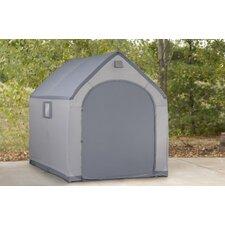 """StorageHouse 6' W x 7'5"""" D Plastic Poratable Shed"""