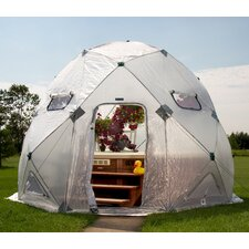 DomeHouse 13 Ft. W x 13 Ft. D Polyethylene Greenhouse