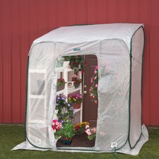 Hothouse 6' x 6' Polyethylene Lean-To Greenhouse