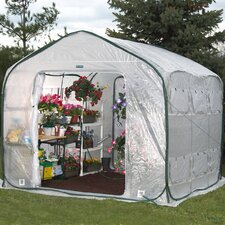 Farmhouse 8' H x 9' W x 9' DPolyethylene Commercial Greenhouse