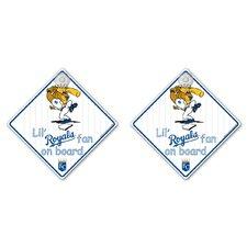 MLB Lil Fan on Board Sign (Set of 2)