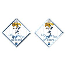 MLB Lil Fan on Board Sign (Set of 2)