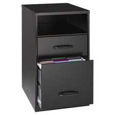 "18"" Deep Two Drawer Organizer in Black"