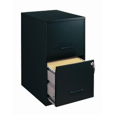 "Home Office 18"" Deep 2 Drawer Vertical Smart File Cabinet"