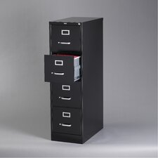 "26.5"" Deep Commercial 4 Drawer Letter Size High Side Vertical File Cabinet"