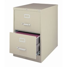 "25"" Deep Commercial 2 Drawer Legal Size High Side Vertical File Cabinet"