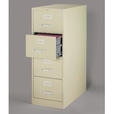 "25"" Deep Commercial 4 Drawer Legal Size High Side Vertical File Cabinet"