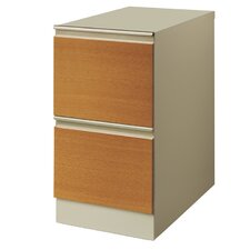 """25"""" Deep Commercial 2 Drawer Letter Size Vertical File Cabinet with Wood Door Front"""