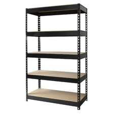"<strong>CommClad</strong> Iron Horse Rivet 60"" H x 36"" W Five Shelf Shelving Unit"