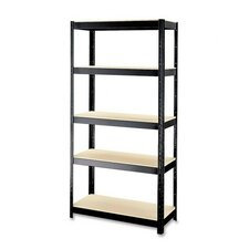 "<strong>CommClad</strong> 500 Series Rust-resistant Shelving Unit, 36""x16""x72"", Black"