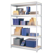 "1,700 lb Cap. Industrial Shelving Unit, 48""x18""x72"", Silver Metal"