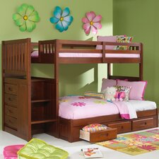 <strong>Discovery World Furniture</strong> Weston Twin over Full Staircase Bunk Bed with Optional Storage
