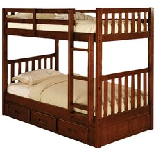 <strong>Discovery World Furniture</strong> Weston Twin over Twin Bunk Bed with Built-In Ladder and Optional Storage