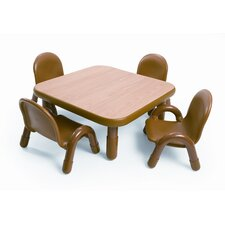 <strong>Angeles</strong> Square Baseline Toddler Table And Chair Set in Natural