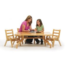 "NaturalWood 48"" Rectangular Table"
