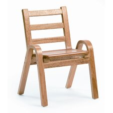 "<strong>Angeles</strong> 11"" Wood Classroom Stacking Chair"