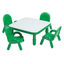 <strong>Angeles</strong> Square Baseline Toddler Table And Chair Set in Shamrock Green