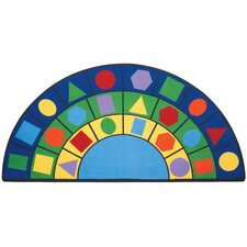 Geometric Semi-Circle Carpet Area Rug