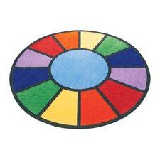 Rainbow Round Area Rug
