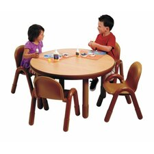 Round Baseline Preschool Table and Chair Set in Natural