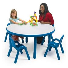 <strong>Angeles</strong> Round Baseline Preschool Table and Chair Set in Royal Blue