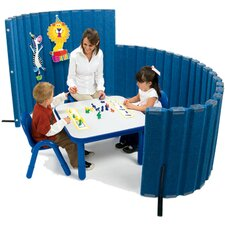 "48"" x 72"" SoundSponge Quiet Dividers Wall with 2 Support Feet"