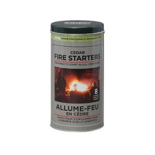 Cedar Fire Starter Tin (Pack of 8)