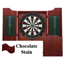 Dart Board Cabinet in Chocolate