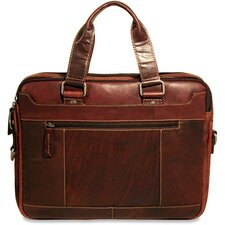 Voyager Double Entry Top Zip Briefcase