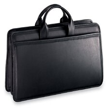 Platinum Triple Gusset Zip Top Briefcase