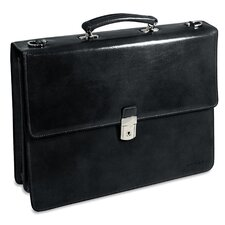 <strong>Jack Georges</strong> Sienna Triple Gusset Leather Briefcase
