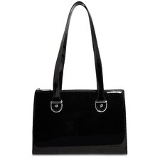 <strong>Jack Georges</strong> Patent Leather Top-Zip Tote Bag