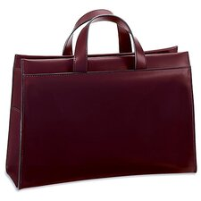 Milano Wide Gusset Zip Top Briefcase